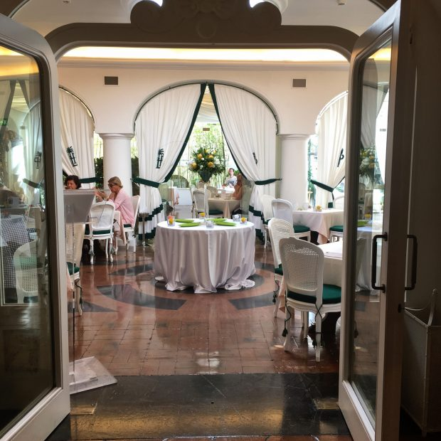 la sala dell'Hotel La Palma, Capri   ©foto Sandra Longinotti