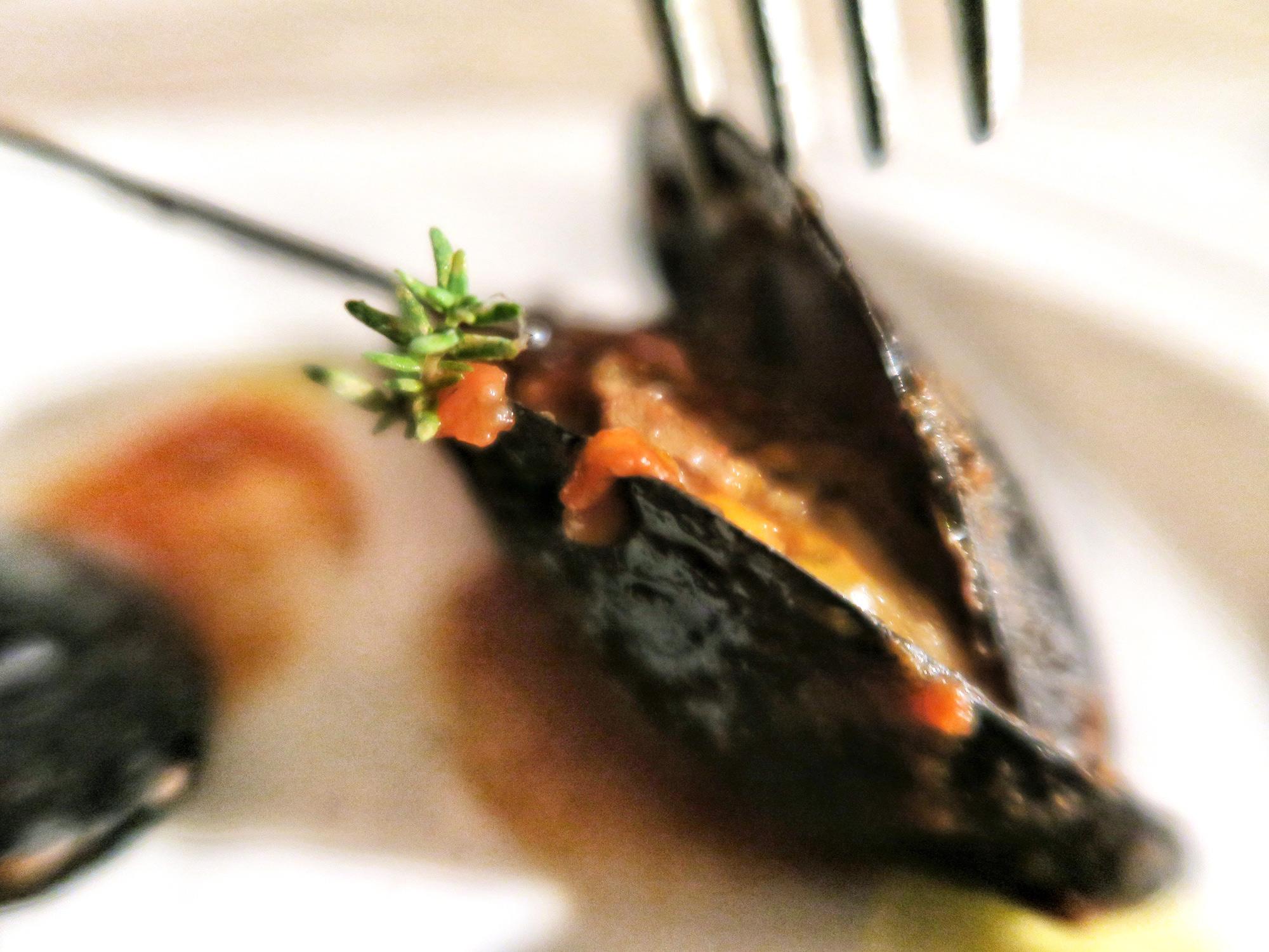 Muscoli ripieni alla spezzina dello chef Giacomo Devoto, Officine del Cibo | ©foto Sandra Longinotti