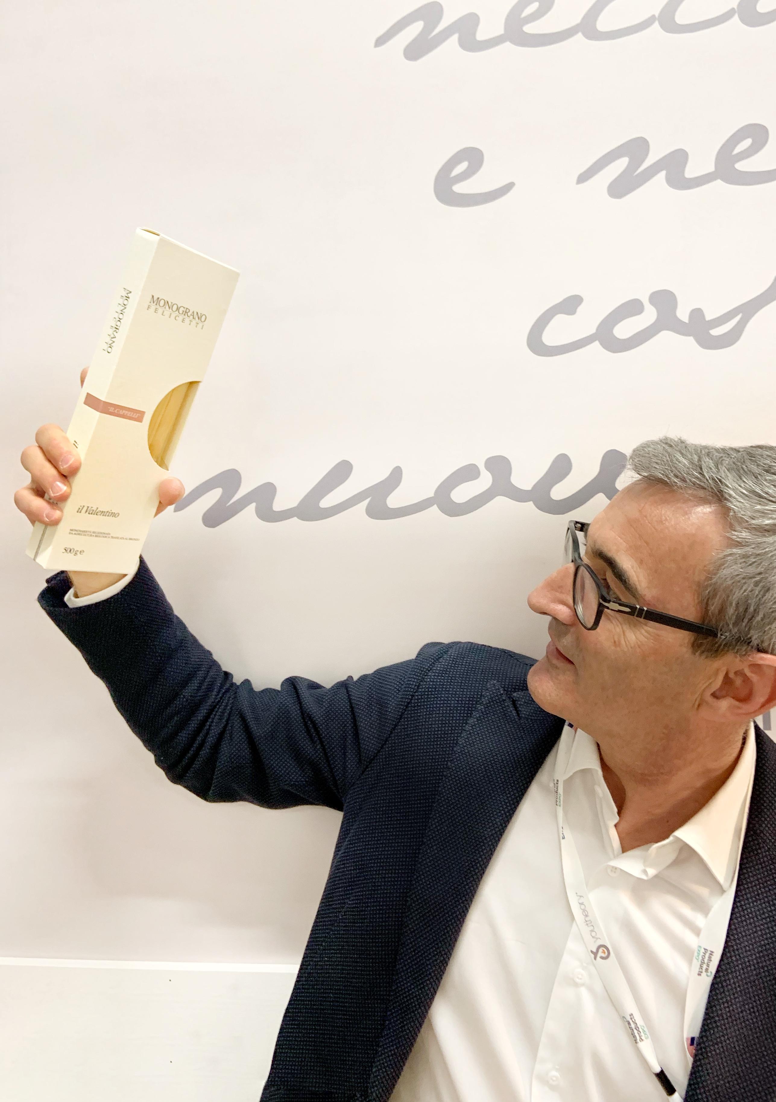 Riccardo Felicetti e Il Valentino, il nuovo formato di pasta della linea Monograno Felicetti | © Sandra Longinotti