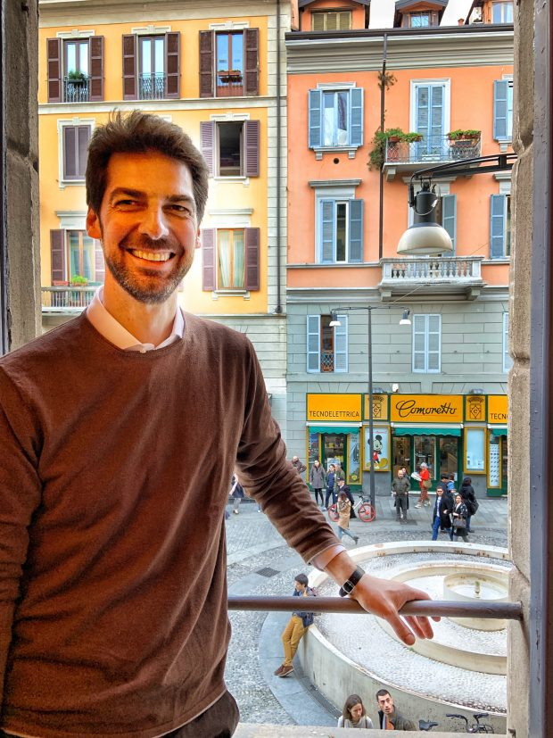 Massimiliano Alajmo all'inaugurazione di Amor a Milano | ©foto Sandra Longinotti