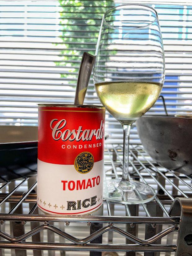 Il Risotto al Pomodoro, aka Tomato Rice dei Costardi Bros in lattina, col cucchiaio Gio Ponti di Sambonet   ©foto Sandra Longinotti