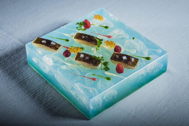 Il Piatto della Trota realizzato da Alessandro Ciffo per lo chef Sergio Vineis | ©foto Damiano Andreotti